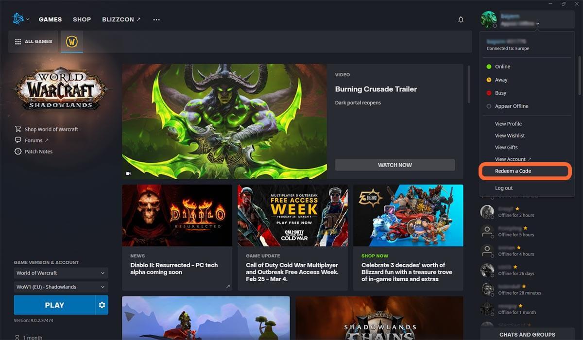 خرید گیم تایم world of Warcraft